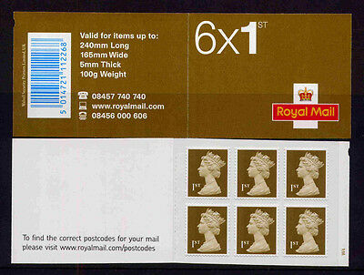 GB MB4c 2007 6x1st PIP INFO + POSTCODES CYLINDER W4 pW1 SELF ADHESIVE BOOKLET