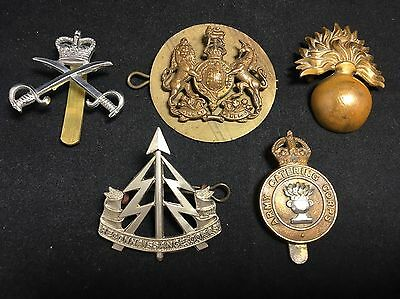 #2 Vintage War Army WWII WWI MILITARY CAP BADGE LOT X 5 Reconnaissance Fusiliers