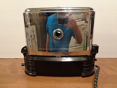 Vintage 1940's Toast-O-Lator Walk Through Original Toaster Works Very Clean WOW
