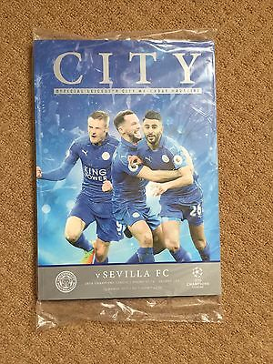 2016/17 - LEICESTER CITY v SEVILLA FC Champions League Programme 14th March 2017