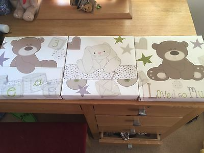 Set Of 3 Loved So Much Canvases