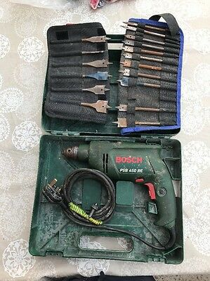 Bosch Handheld Drill With Hammer Funcion And Speed Adjustment PSB 650 RE