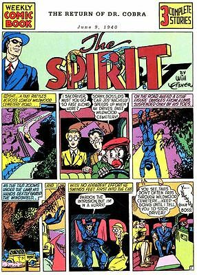 THE SPIRIT Will Eisner Comic Collection 351 comics on DVD golden age