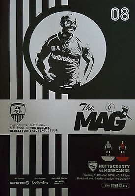 NOTTS COUNTY v MORECAMBE 2016/17  *** REPLAYED GAME ***