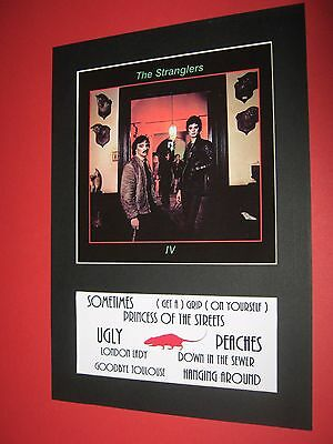 The Stranglers Rattus Norvegicus  A4 Mounted Album Print (Win 3 4Th Free)