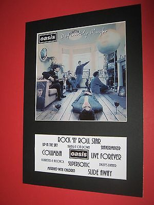 Oasis Definitely Maybe  A4 Mounted Album Print (Win 3 4Th Free)