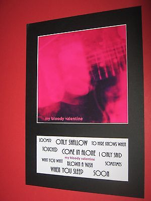 My Bloody Valentine Loveless  A4 Mounted Album Print (Win 3 4Th Free)