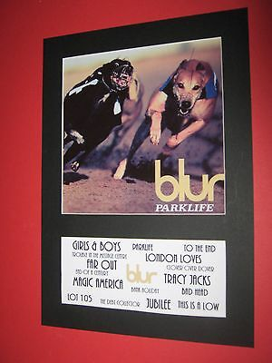 Blur Parklife  A4 Mounted Album Print (Win 3 4Th Free)