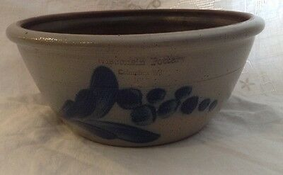 Wisconsin Pottery Salt Glaze 2 Qt Mixing Bowl 1987