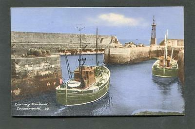 Lossiemouth Moray - Fishing Boats in Harbour p/u 1964