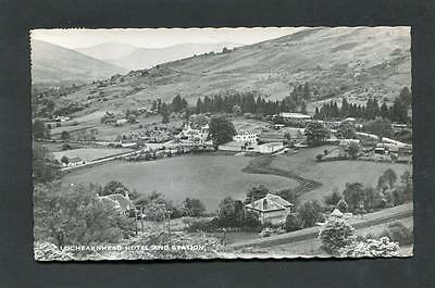 Lochearnhead Perthshire - View of Hotel and Railway Station RP p/u 1965