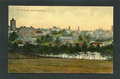 St Andrews Fife - View of Town from Pipeland p/u 1924