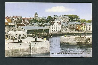 Pittenweem Fife - The Harbour Entrance p/u 1960