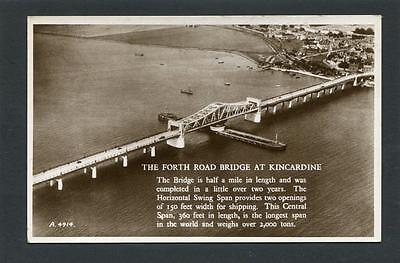 Kincardine on Forth Fife - Aerial View Forth Road Bridge RP c1935