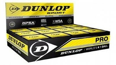 Dunlop Pro Squash Ball 12 Pack Double Yellow -