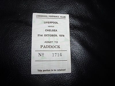 liverpool v chelsea 21/10/1978  ticket stub