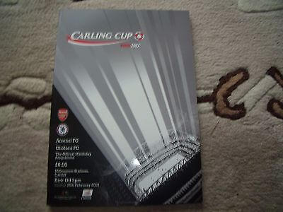 arsenal v chelsea 25/2/2007 carling cup final