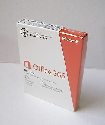 (Brand New) Microsoft Office 365 Personal Subscription License - 1 PC/Mac