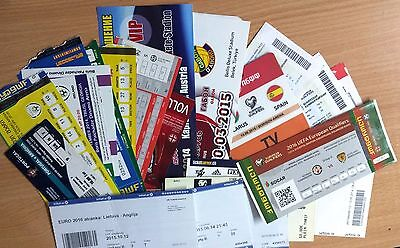 2014 - 2015 NATIONAL teams tickets Q EURO-2016 & Friendly UPDATED JUNE 2017