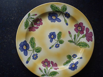 10 inch Dinner plate  poole pottery primula by Bryony Langworth