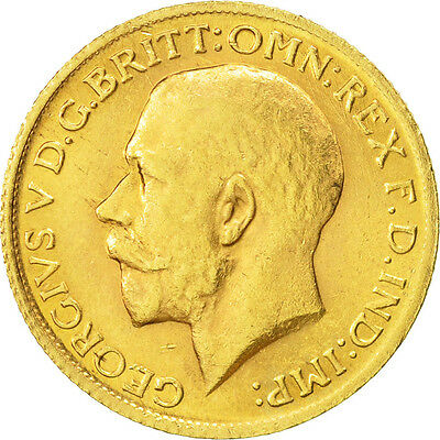 [#507156] Great Britain, George V, Sovereign, 1912, AU(55-58), Gold, KM:820