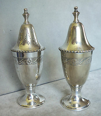 Silver Plated Salt & Pepper Cellars. GC