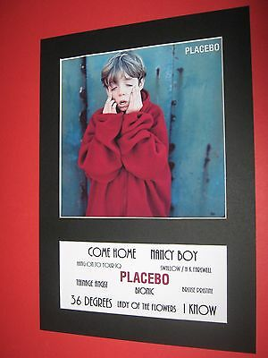 Placebo A4 Mounted Album Print (Win 3 4Th Free)