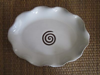 Studio Pottery shallow dish with potter's mark