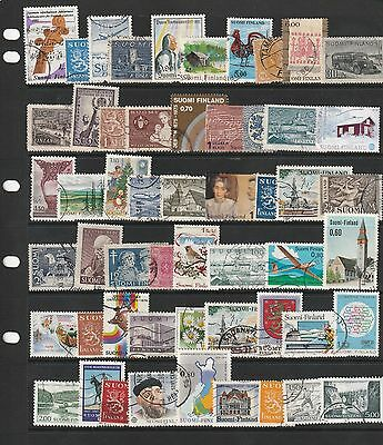 Stamps of Finland - 50+ Different Used.