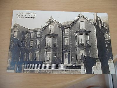 Knowsley private hotel Llandudno real photo postcard 1926 not posted