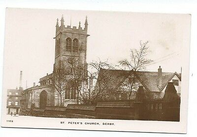Derby, St. Peters Church.Real Photo,Circa 1914
