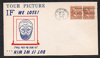 **US WWII Patriotic Cover, Albany, NY 9/14/1943, Unusual Cachet
