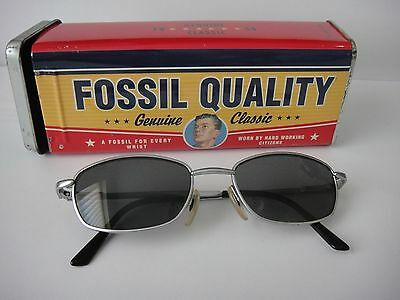 Fossil Vintage Sunglasses complete with original storage case / tin