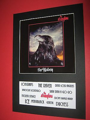 The Stranglers The Raven  A4 Mounted Album Print (Win 3 4Th Free)