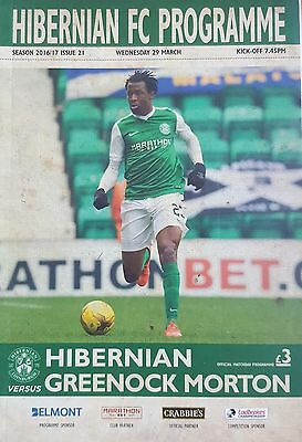HIBERNIAN v GREENOCK MORTON (29 March 2017) 2016/17