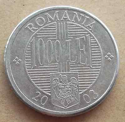 ROMANIA 1000 Lei coin * 2003 (9HD34)