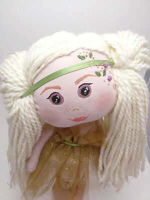 Petunia Cloth Doll, Bambola, Kukla, Weichpuppe OOAK, Handmade in Italy Puppe