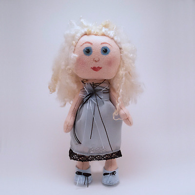 Alice Cloth Doll, Bambola, Kukla, Weichpuppe OOAK, Handmade in Italy Puppe