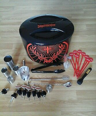 Jagermeister ice box and cocktail accessories