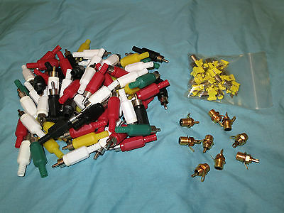 Job Lot of Phono/RCA Plugs and Sockets (Some Gold Plated)