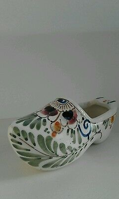 Vintage decorative ornament painted clog shoe