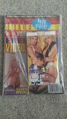 Electric Blue - Vintage Men's Glamour Magazine - 90's New Incl. Free Video