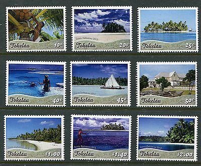 Tokelau 2012 Definitive Set Scott 395-403 Island Life Views Beaches Fishing - NH