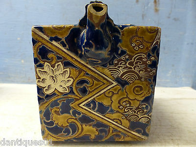 Most Unusual Old Chinese - Japanese Teapot - Square Design - Rare Example - L@@k