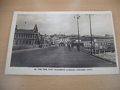 On the pier Port Elizabeth looking towards town real photo postcard 1920