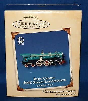 Blue Comet 400E Steam Locomotive Lionel Train ☆ 2002 Hallmark Ornament NEW