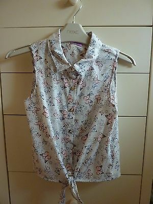 Girls Tie Front Blouse - Age 7/8 Years