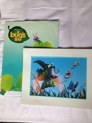 The Disney Store 1999 Lithograph Collection - A Bug's Life Pixar Print Photo