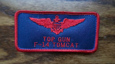 """US Navy Fighter School TOP GUN F-18 NAME TAG 2""""X4"""""""" PATCH"""