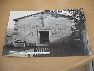 Congregational church Broadway Worcestershire real photo postcard unposted